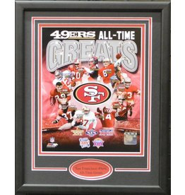 SAN FRANCISCO 49ERS ALL-TIME GREATS 11X14 FRAME