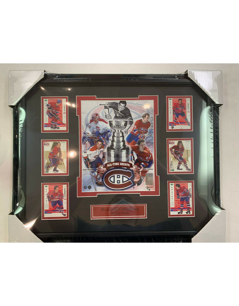MONTREAL CANADIENS ALL-TIME GREATS 16X20 FRAME WITH 6 CARDS