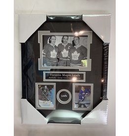 RED KELLY, GEORGE ARMSTRONG & TIM HORTON 11X14 FRAME - TORONTO MAPLE LEAFS