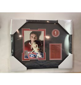JACQUES PLANTE 11X14 FRAME - MONTREAL CANADIENS