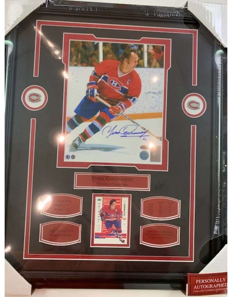 YVAN COURNOYER AUTOGRAPH 16X20 FRAME - MONTREAL CANADIENS