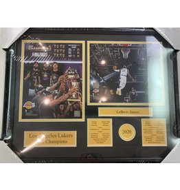 LOS ANGELES LAKERS 2020 CHAMPIONS - LEBRON JAMES 16X20 FRAME