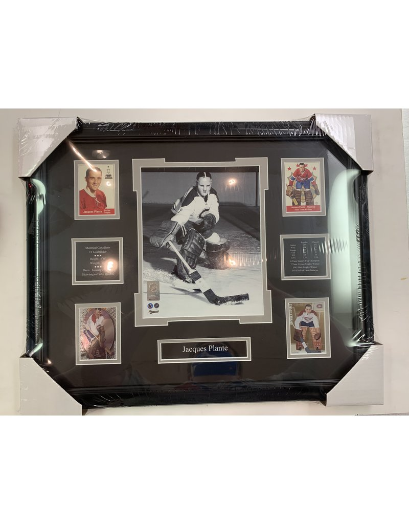 JACQUES PLANTE 16X20 FRAME - MONTREAL CANADIENS