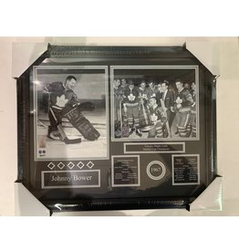 JOHNNY BOWER 1967 STANLEY CUP CHAMPIONS 16X20 FRAME - TORONTO MAPLE LEAFS