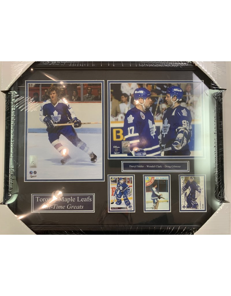 TORONTO MAPLE LEAFS ALL-TIME GREATS 16X20 FRAME BLUE