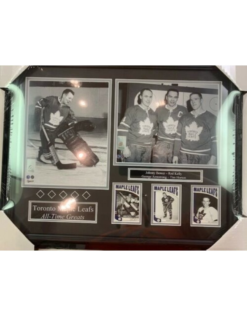 TORONTO MAPLE LEAFS ALL-TIME GREATS 16X20 FRAME B&W