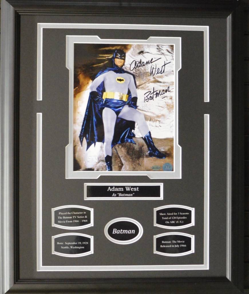 ADAM WEST - BATMAN AUTOGRAPH 16X20 FRAME