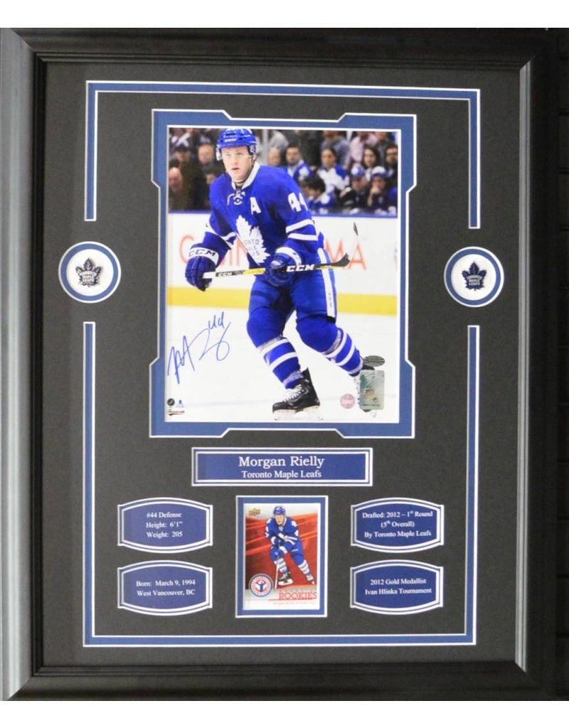 MORGAN RIELLY AUTOGRAPH 16X20 FRAME - TORONTO MAPLE LEAFS