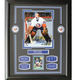 BILLY SMITH AUTOGRAPH 16X20 FRAME - NEW YORK ISLANDERS