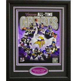 MINNESOTA VIKINGS ALL-TIME GREATS 11X14 FRAME