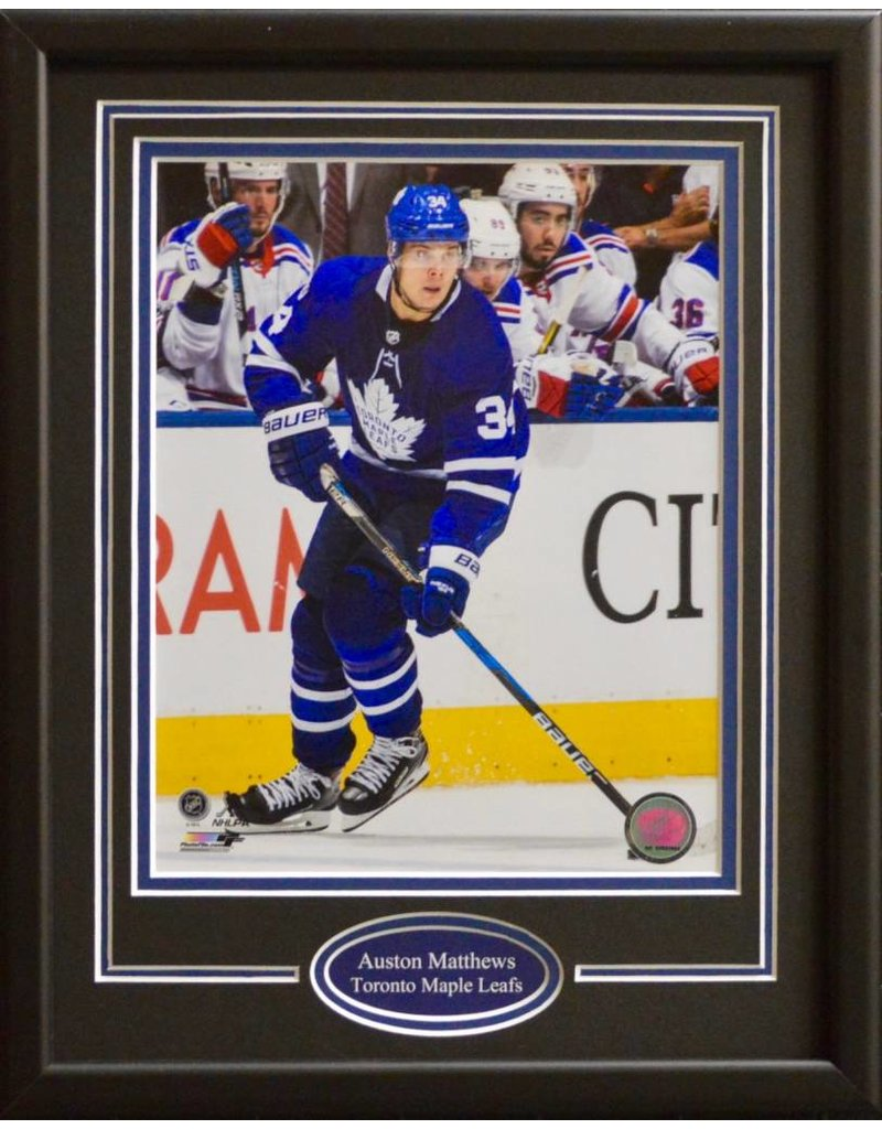 AUSTON MATTHEWS 11X14 FRAME - TORONTO MAPLE LEAFS