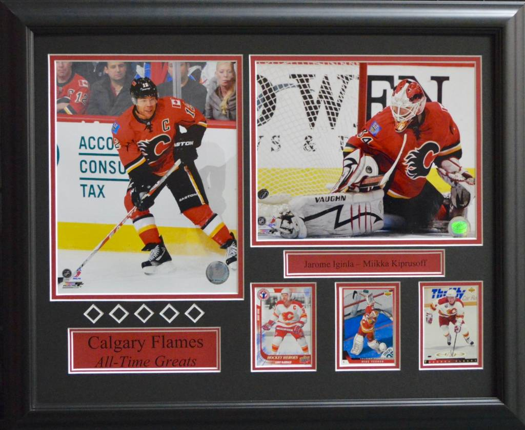 CALGARY FLAMES ALL-TIME GREATS 16X20 FRAME