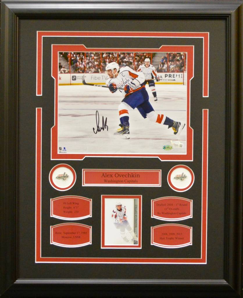 ALEX OVECHKIN AUTOGRAPH 16X20 FRAME - WASHINGTON CAPITALS
