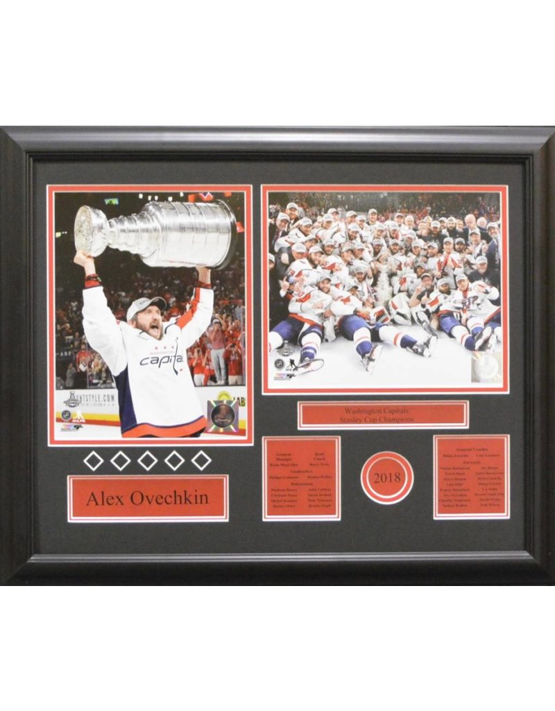 ALEX OVECHKIN 2018 STANLEY CUP CHAMPIONS - WASHINGTON CAPITALS 16X20 FRAME
