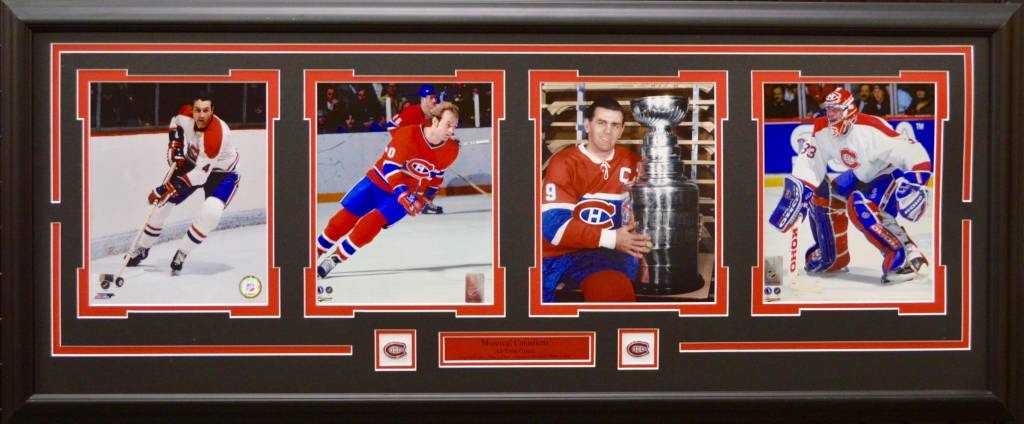 MONTREAL CANADIENS ALL-TIME GREATS 4 PHOTO 16X42 FRAME