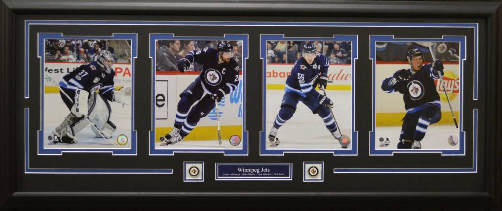WINNIPEG JETS CURRENT 4 PHOTO 16X42 FRAME