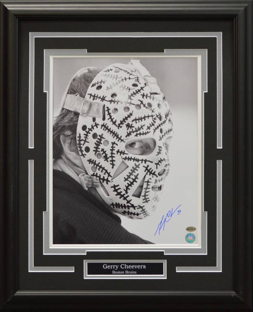 GERRY CHEEVERS AUTOGRAPH 16X20 FRAME - BOSTON BRUINS