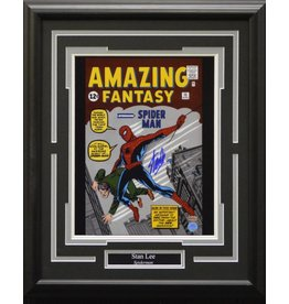 STAN LEE SPIDERMAN - AMAZING FANTASY AUTOGRAPH 16X20 FRAME