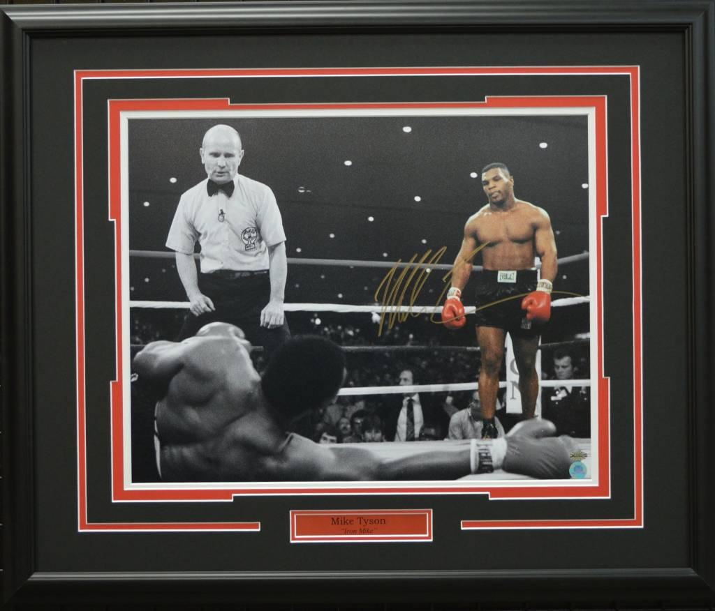 MIKE TYSON AUTOGRAPH 16X20 PHOTO - 23X28 FRAME
