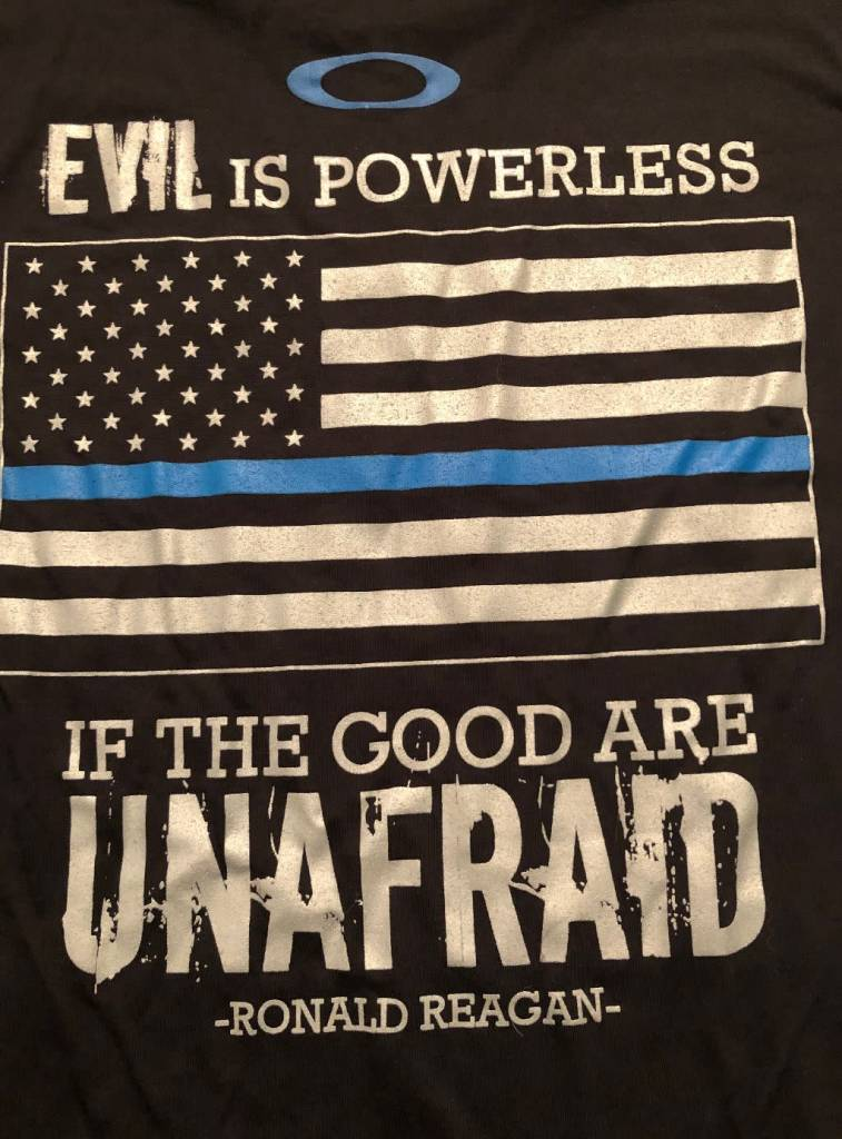 Oakley Thin Blue Line Ronald Regan T-shirt Black- Large