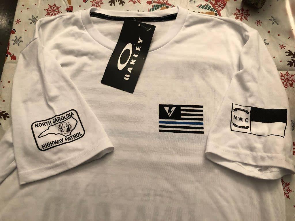 Oakley Thin Blue Line Ronald Regan T-shirt white-XX-Large