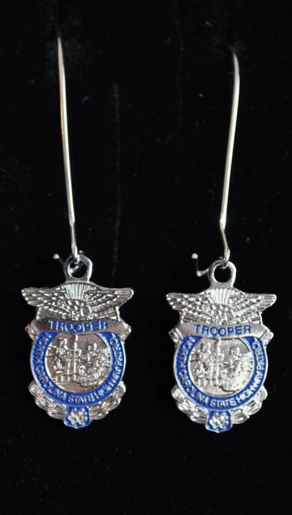 Earrings with Badge