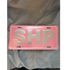 Pink SHP License Plate