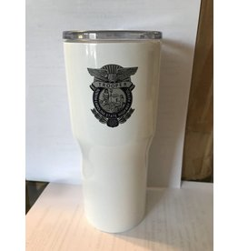 30 oz Stainless Steel White Powder Coated  Tumbler