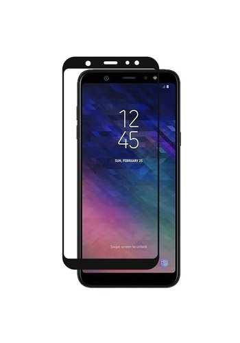4D Full Cover Tempered Glass for Galaxy A6 (2018)