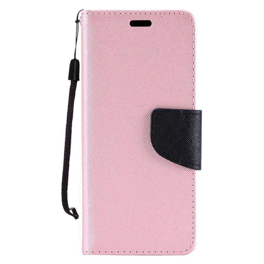 Hybrid PU Leather Flip Cover Case Wallet with Credit Card Slots for Motorola Moto G6 Play