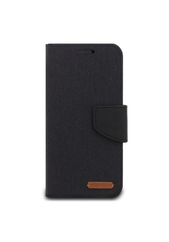 ModeBlu Canvas Wallet Pocket Diary Case for iPhone XR