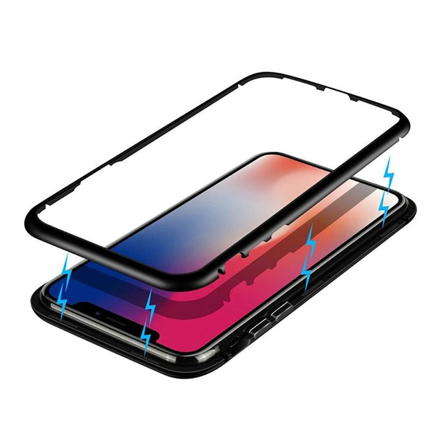 360 Magnetic Metal Flip Case for iPhone X / XS