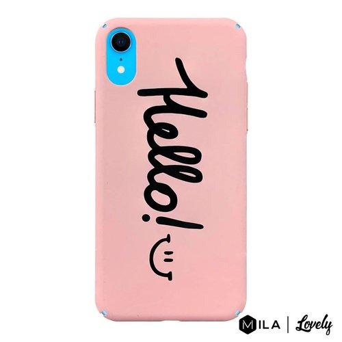 MILA   Lovely Hello Case for iPhone XR