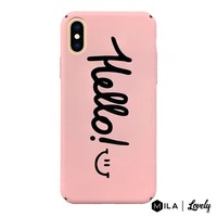 MILA | Lovely Hello Case for iPhone XS Max