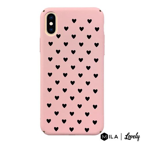 MILA   Lovely Heart Pattern Case for iPhone X / XS