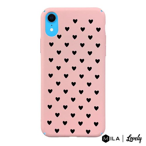 MILA   Lovely Heart Pattern Case for iPhone XR