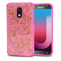 Slim Glossy Scattered Frozen Glitter Case for Galaxy J7 Refine / Star (2018)