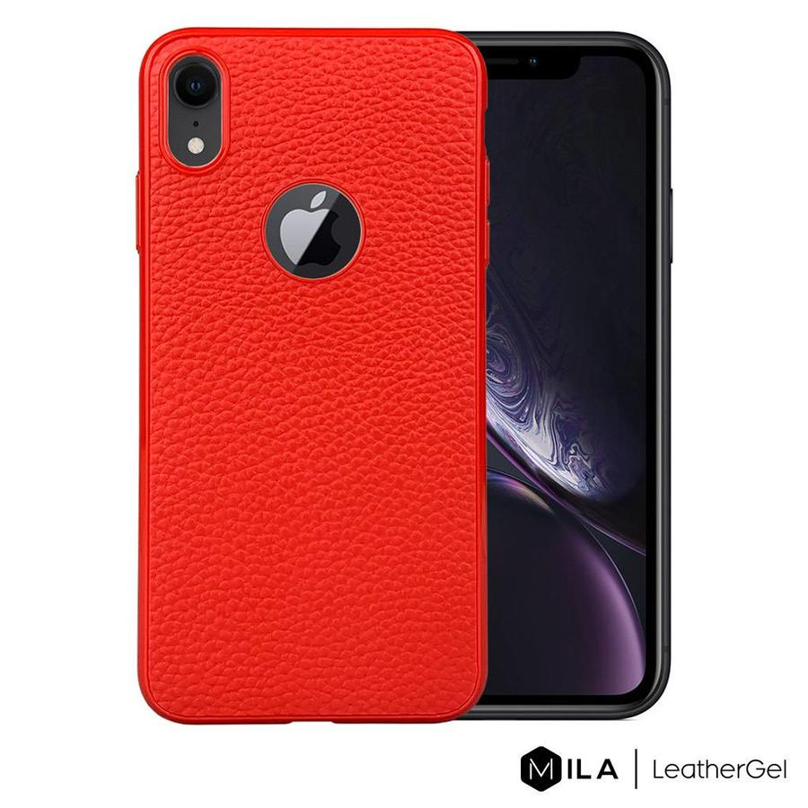 MILA   LeatherGel Case for iPhone XR