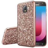 Metallic Chrome Frozen Glitter Case for Galaxy J7 Refine / Star (2018)