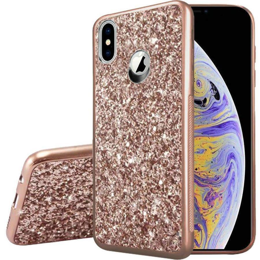 Metallic Chrome Frozen Glitter Case for iPhone XS Max