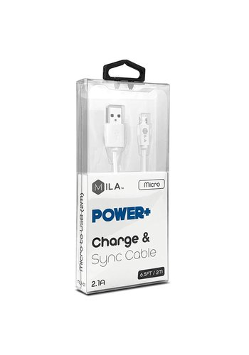 MILA | Micro V9 POWER+ Charge & Sync Cable