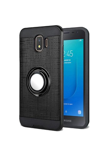PC TPU Embossed Line Design with Magnetic Ring for Galaxy J2 Core (2018)