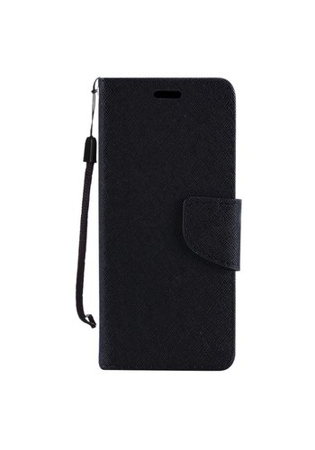 Hybrid PU Leather Flip Cover Case Wallet with Credit Card Slots for Galaxy J2 Core (2018)