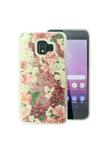 PC TPU Liquid Quicksand Clear Design Case for Galaxy J2 Core (2018) - Roses