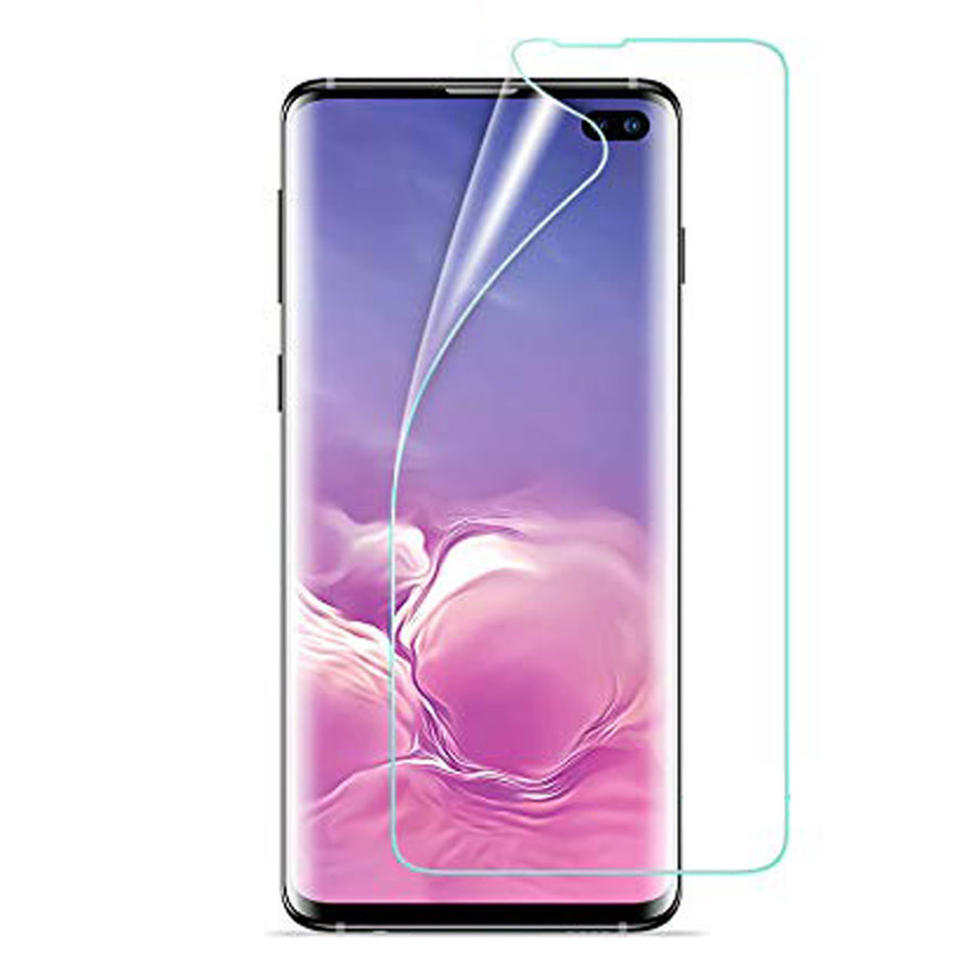 Full Cover Premium Curved Plastic Screen Protector For Galaxy S10 Plus