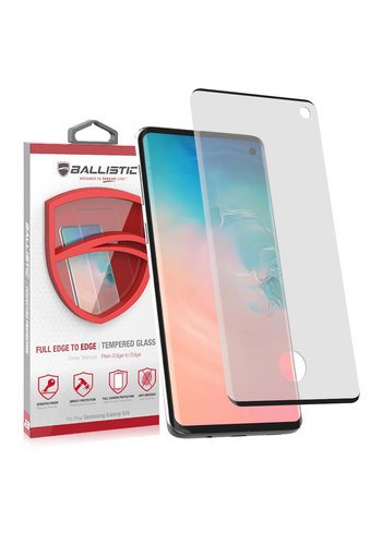 Ballistic Full Edge Curved Tempered Glass with Finger Print Cut-Out for Galaxy S10