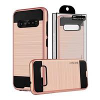 Guardian PC+TPU Metallic Brushed Design Case for Galaxy S10 - Shield Line