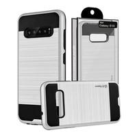 Guardian PC+TPU Metallic Brushed Design Case for Galaxy S10 Plus - Shield Line