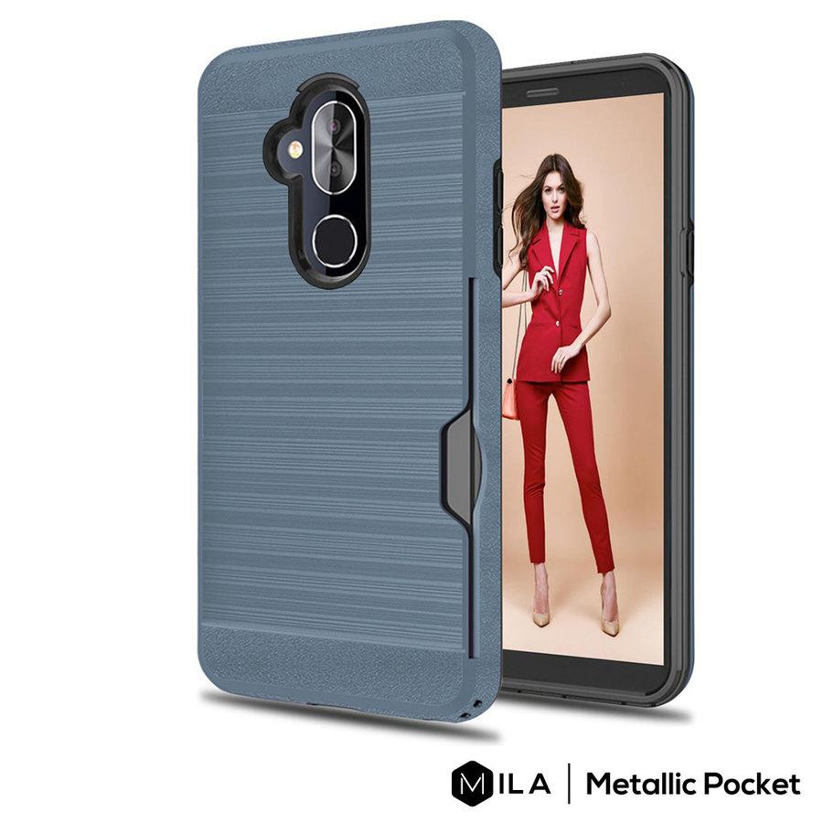 MILA | Metallic Pocket Case for Alcatel 7 / Revvl 2 Plus / 7 Folio