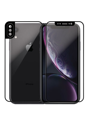 4D Front and Back Full Cover Tempered Glass for iPhone XR